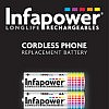 We supply the Infapower T003 12H cordless phone battery with a 2 year warranty.