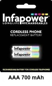 Buy Infapower T004 59 AAA Cordless Phone Batteries