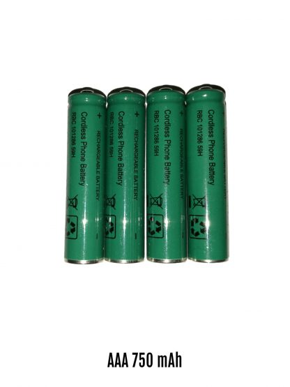 AAA Cordless Phone Batteries GMK 750mAh 4 Cells