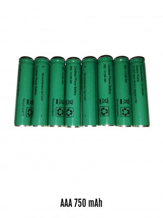 AAA Cordless Phone Batteries Rechargeable GMK 750mAh 8 Cells
