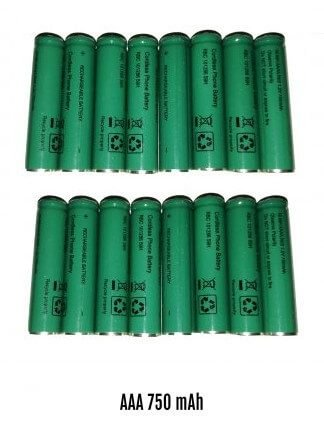 AAA Cordless Phone Batteries GMK 750mAh 16 Cells