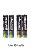 Infapower AAA 550mAh Cordless Phone Batteries Rechargeable NiMh